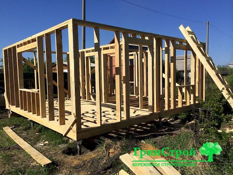 Как построить каркасный дом 6 на 6