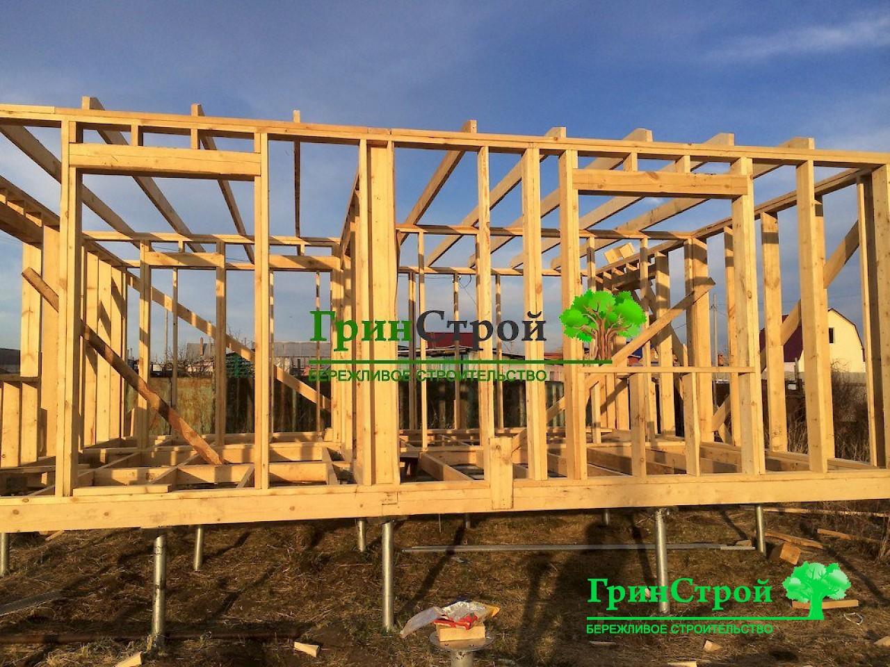 Как построить каркасный дом своими руками вграфиях